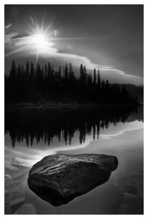 Lake Elaine After Sunrise (B&W)