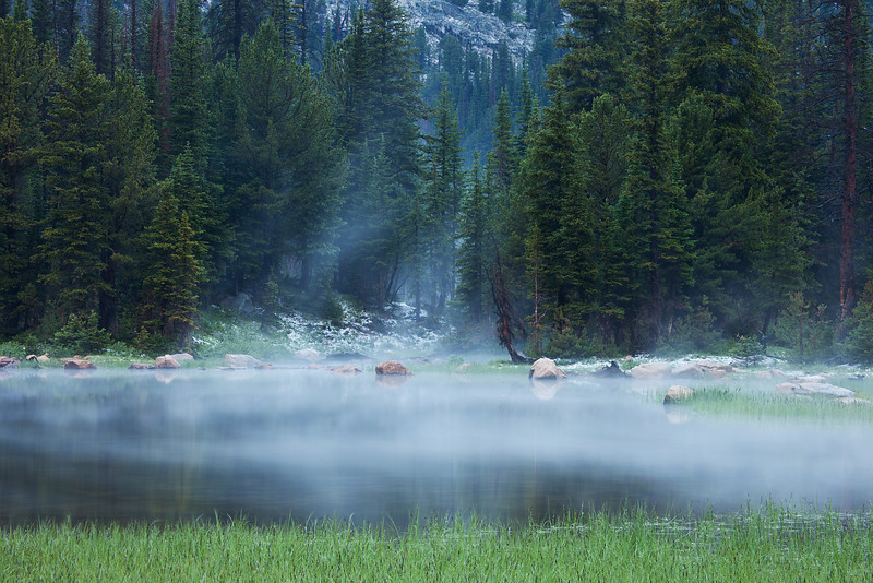 Swirling Mist<br /> Lake Columbine, Absaroka-Beartooth Wilderness, MT