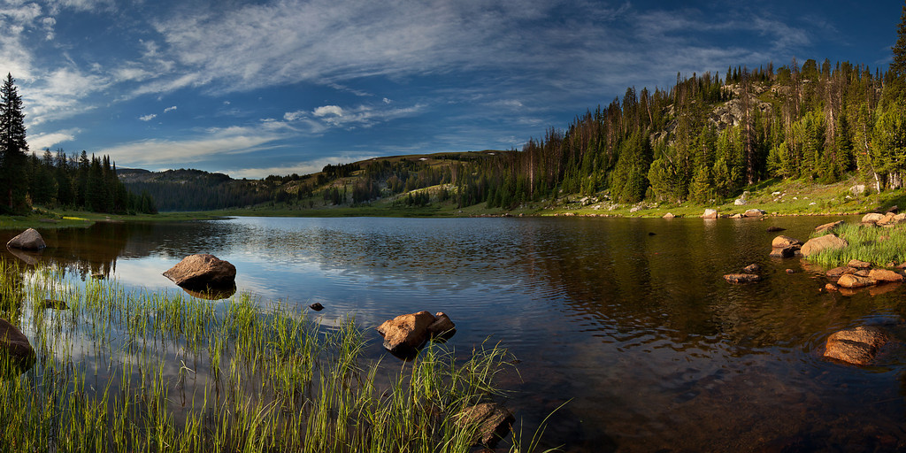 Lake Columbine Panorama<br /> Absaroka-Beartooth Wilderness, MT