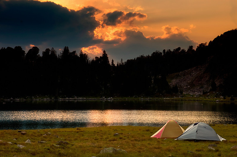 Camp Sunset.  Martin Lake, Absaroka-Beartooth Wilderness