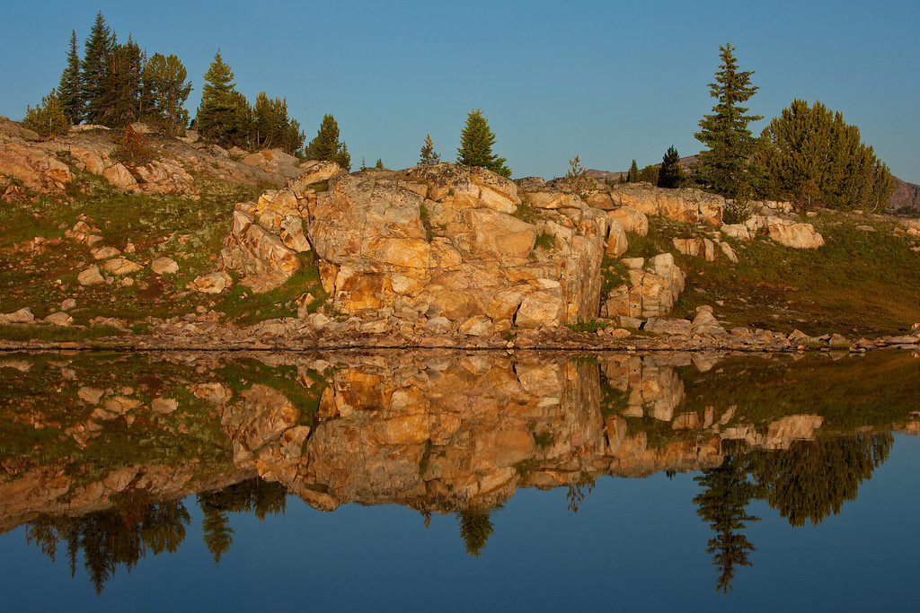 Rainbow Lakes Reflections, Lake Plateau, Absaroka-Beartooth Wilderness, MT