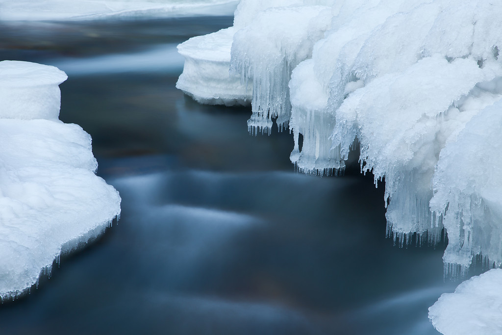 Icy Stillwater, 2010<br /> Stillwater River, Absaroka-Beartooth Wilderness, MT