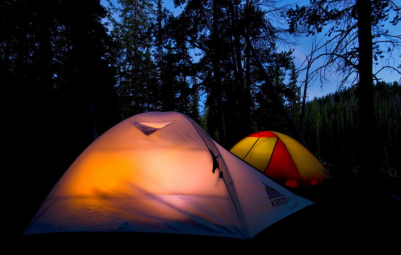 Tent Glow.  Beartooth mountains, Absaroka-Beartooth Wilderness