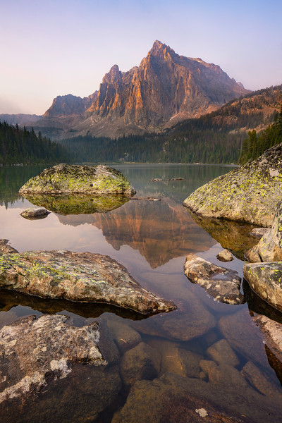 Sylvan Peak reflection in Crow Lake