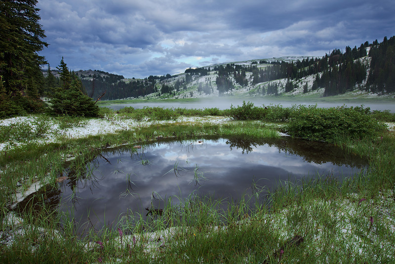 Small Reflecting Pond After Storm<br /> Lake Columbine, Absaroka-Beartooth Wilderness, MT