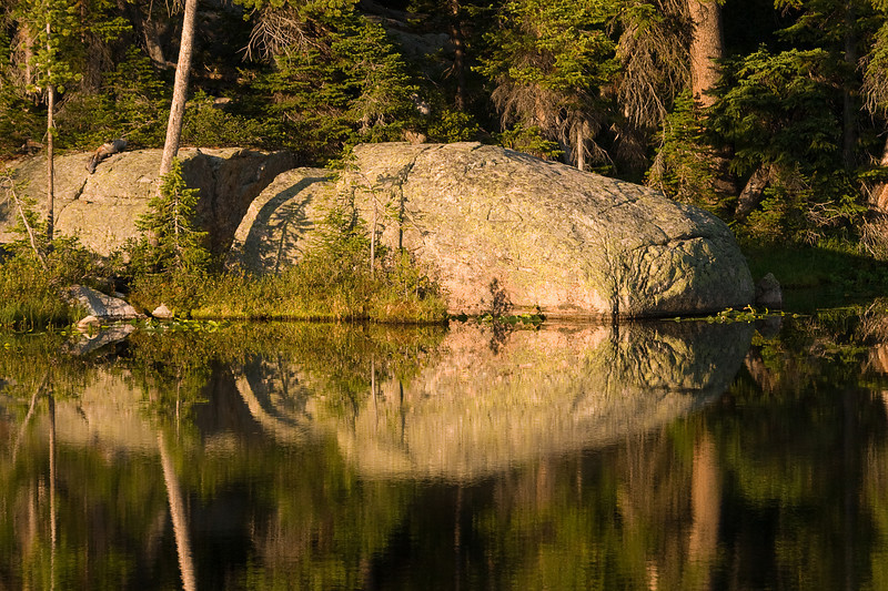 Mirror.  Unnamed lake in the Beartooth Mountains