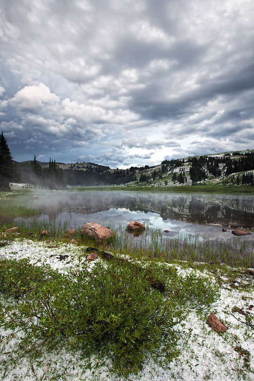 Hail At Lake Columbine<br /> Absaroka-Beartooth Wilderness, MT