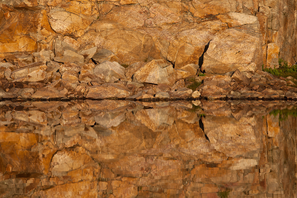 Rock Reflections, Rainbow Lakes, Lake Plateau, Absaroka-Beartooth Wilderness, MT