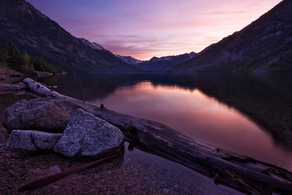 Mystic Lake at Sunset II<br /> Absaroka-Beartooth Wilderness, MT