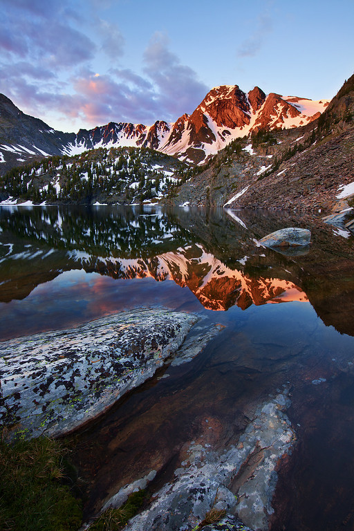 Pine Creek Lake at Sunrise<br /> Absaroka-Beartooth Wilderness, Montana