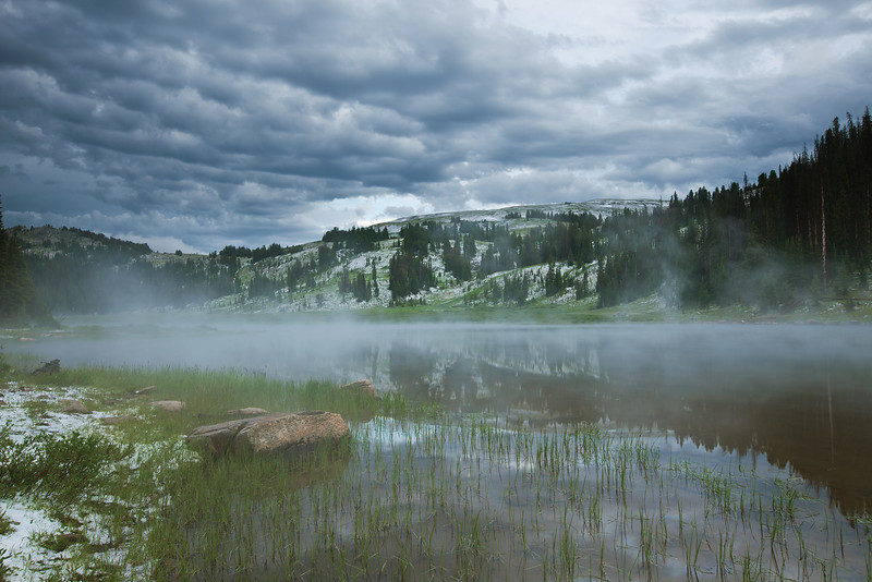 Lake Columbine after a summer hail storm, Absaroka-Beartooth Wilderness, MT