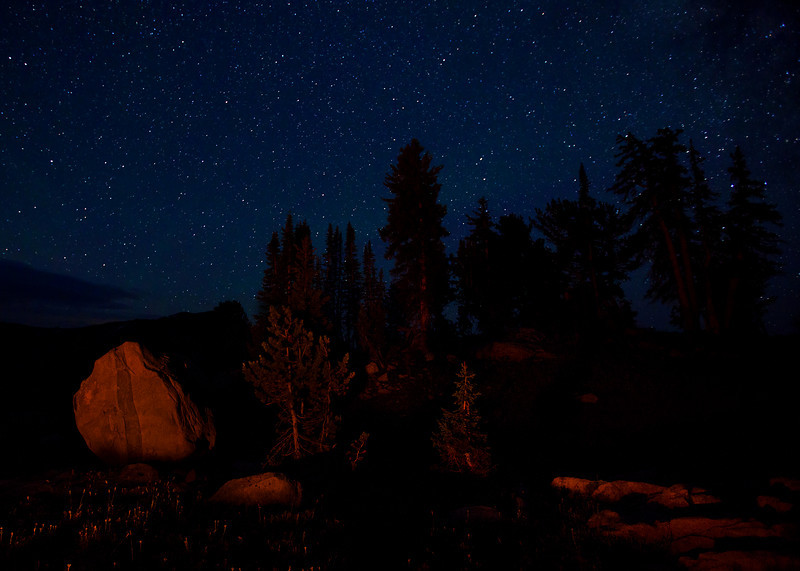 Stars and Fire-light, Lake Plateau, Absaroka-Beartooth Wilderness, MT