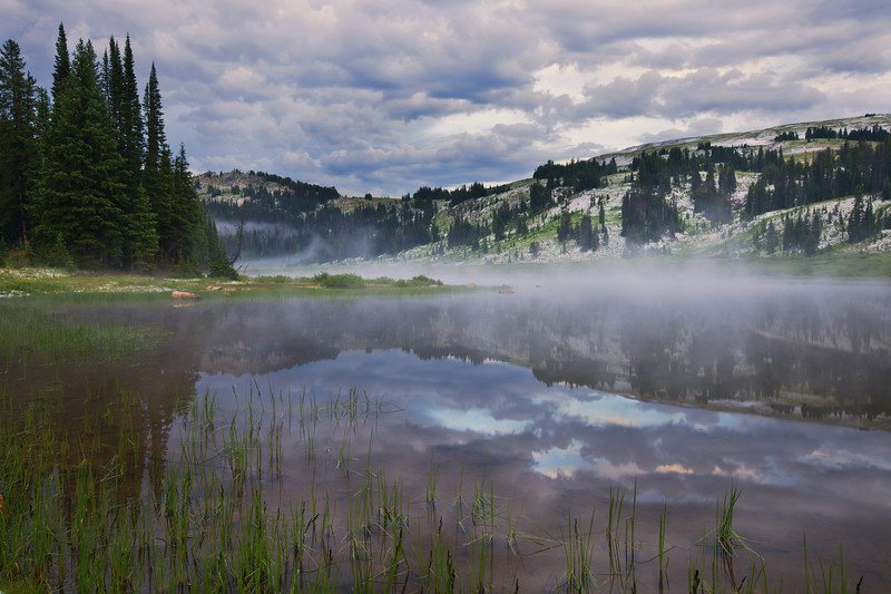 Mist Over Lake Columbine<br /> Absaroka-Beartooth Wilderness, Montana