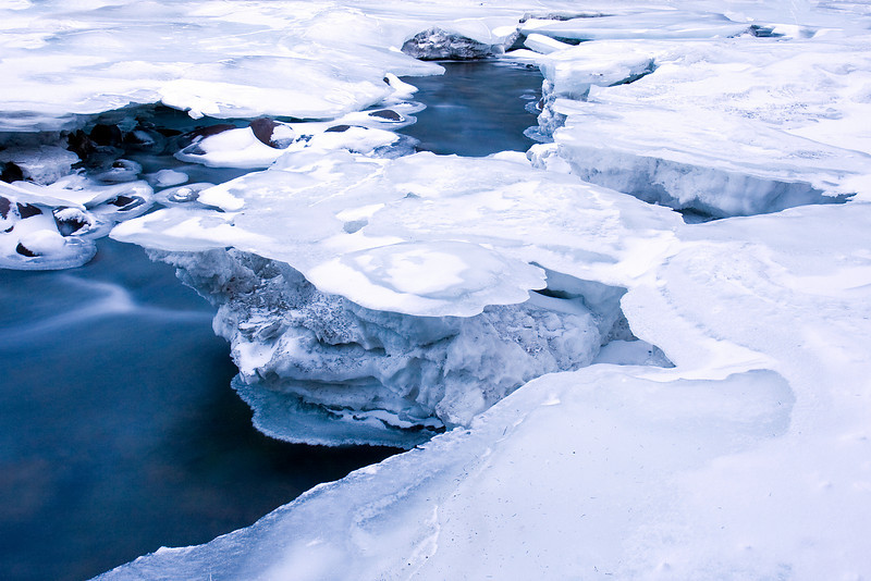 Ice Formations on the Stillwater in January<br /> Absaroka-Beartooth Wilderness, MT