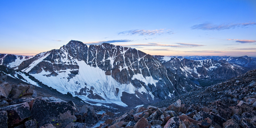 Granite Peak, Montana, at Sunrise