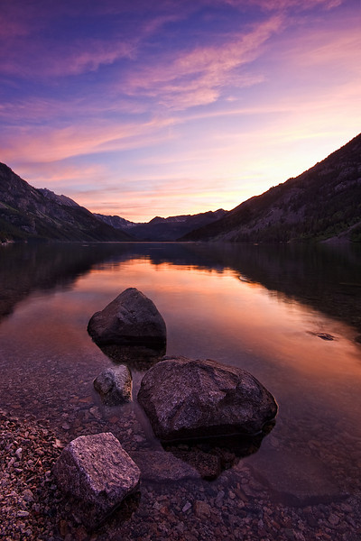 Mystic Lake at Sunset<br /> Absaroka-Beartooth Wilderness, MT