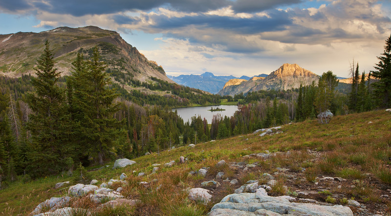 Above Wounded Man Lake<br /> Lake Plateau Region, Absaroka-Beartooth Wilderness, MT