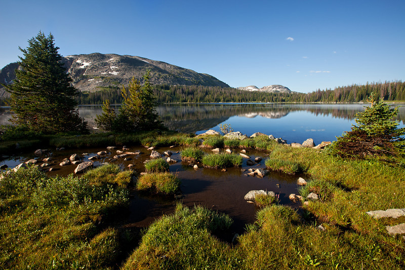 Morning at Lake Pinchot, Lake Plateau, Absaroka-Beartooth Wilderness, MT