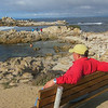 Al finds a bench at Point Pinos