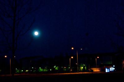 Superkuu, 75 mm Super Moon  Viikki, Helsinki, 2012