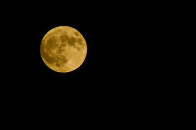 Superkuu. Kuva on otettu 840 mm:llä... :-) Sitä ei ole yhtään rajattu! Valkotasapainon asetuksen, päivänvalo ansiosta kuu loistaa kultaisena...  Super Moon. , Pihlajamäki, Helsinki 2012. I used 840 mm objective... :-) I didn't crap at all.