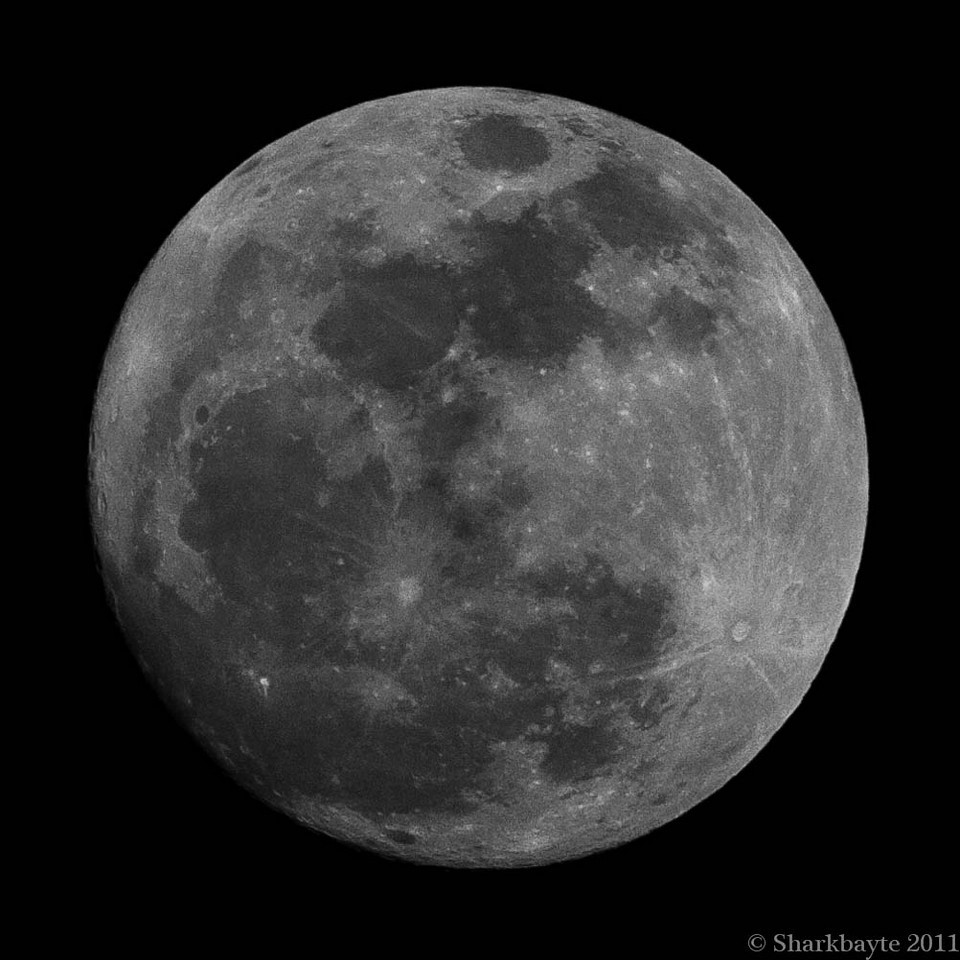 March 19, 2011-last night's waxing gibbous moon, fourteen days old and ninetynine percent full. Tonights moon will appear to be much larger as it is the closest to the earth than it has been in many years. I am hoping for a clear night to capture it. 78:365 @sharkbayte