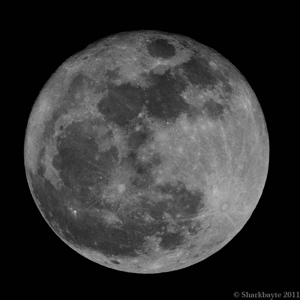 March 20, 2011-Last night's moon was coined a super moon because of how it would appear much larger to us. It is also called the worm moon.  79:365 @sharkbayte