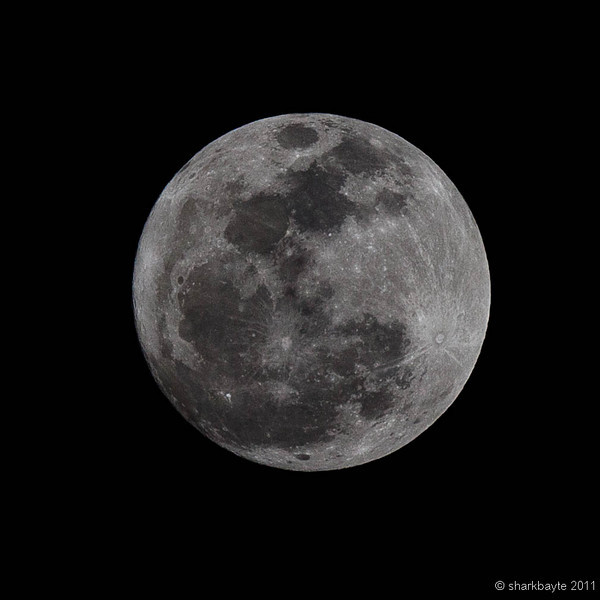February 18, 2011-The Snow Moon. This month's full moon is often called the snow moon. February is usually the month of heaviest snow. Day 49 #356Project @sharkbayte