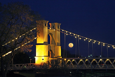 This was the giant moon back in the fall 2010 at the Waco Suspension Bridge.