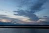 Predawn sky across the Moose River from Moosonee.