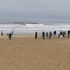 Birders at Pismo Beach, CA viewing rare Ivory Gull