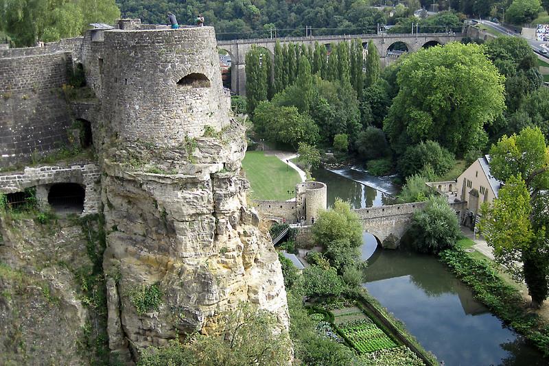 Luxembourg City- from Chemin de la Corniche-Spet 2012