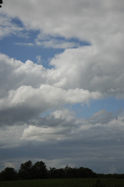 Clouds and blue sky over Indiana