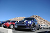 Andy(red MINI) and Rick (purple MINI) enjoyed the drive to the top of the world, or close to it at the Mount Evans summit parking lot 14,130 ft. It's a short hike (behind the MINIs) to the official summit.