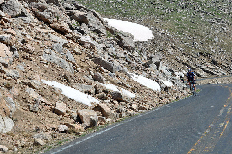 Mount Evans Scenic Byway is the highest paved road in North America. There are no guardrails to obstruct your view down. Way down!