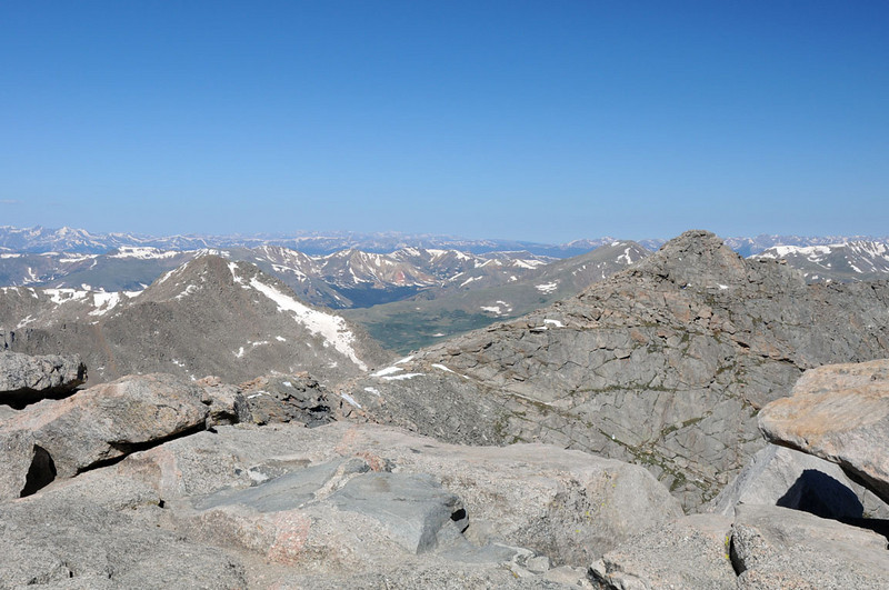 THE SUMMIT of Mount Evans, at 14,264 breathtaking feet above sea level.
