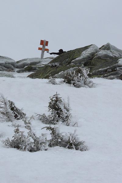 Ken reaches the summit