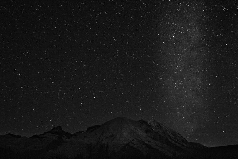 Milky Way over Mt Rainier 1