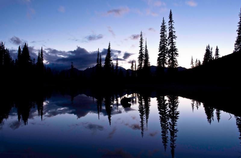 Mt Rainier sunset from Lake Tipsoo1