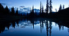 Mt Rainier blue eveningt from Lake Tipsoo