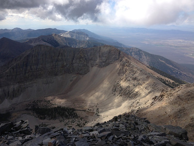 View from atop Wheeler Peak