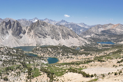 View from atop the Kersarge Pass looking into Kings Canyon Natl. Park