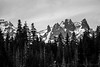 Todd Lake View: Broken Top Black and White