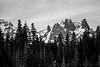 Todd Lake View: Broken Top Black and White