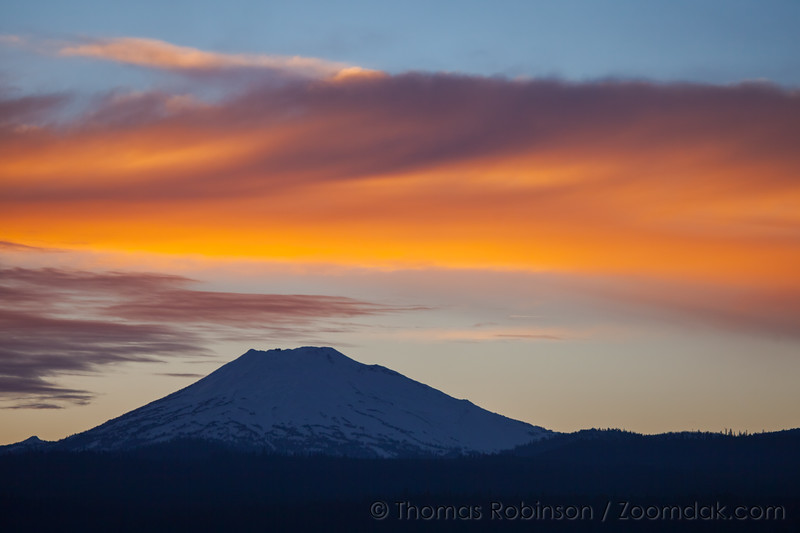 Mt Bachelor with Sunset Skies