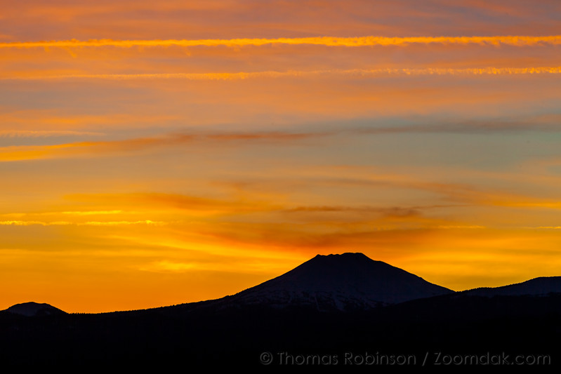 Mt. Bachelor Silhoutted at Sunset