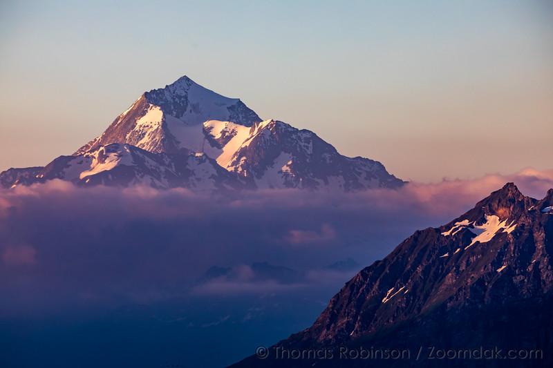Mont Pourri Alpenglow