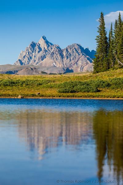 Grand Teton Afternoon Light Reflection