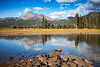 Broken Top Reflecting on Sparks Lake