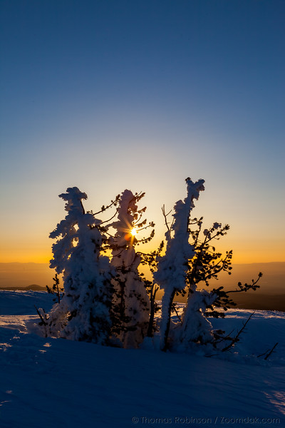 Sun Shimmering Sunrise, Tumalo Mountain